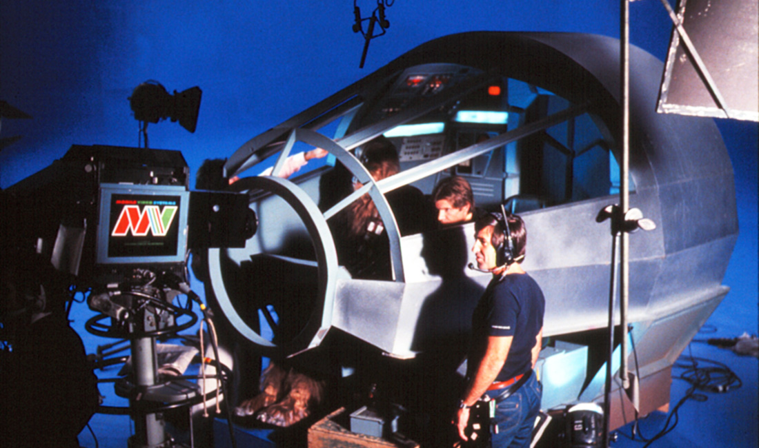 The Star Wars Holiday Special 1978 behind the scenes Millennium Falcon Cockpit with Han Solo and Chewbacca