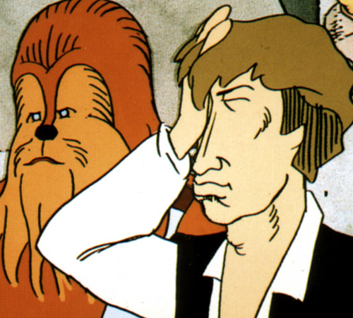 The Star Wars Holiday Special 1978 Cartoon Han Solo & Chewbacca