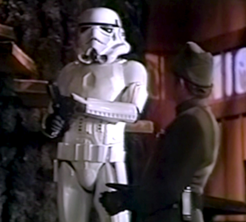 The Star Wars Holiday Special 1978 Imperial Stromtrooper with Imperial Guard Officer