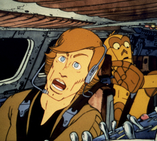 The Star Wars Holiday Special 1978 Cartoon Luke Skywalker with C-3PO