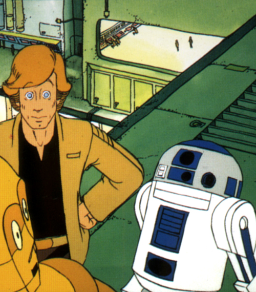The Star Wars Holiday Special 1978 Cartoon R2-D2 with C-3PO and Luke Skywalker